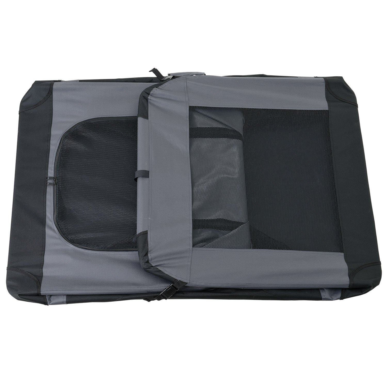 ROJO pro.tec 49,5x34,5cm Tama/ño: S - Transport/ín plegable para perro Bolsa de transporte para mascotas