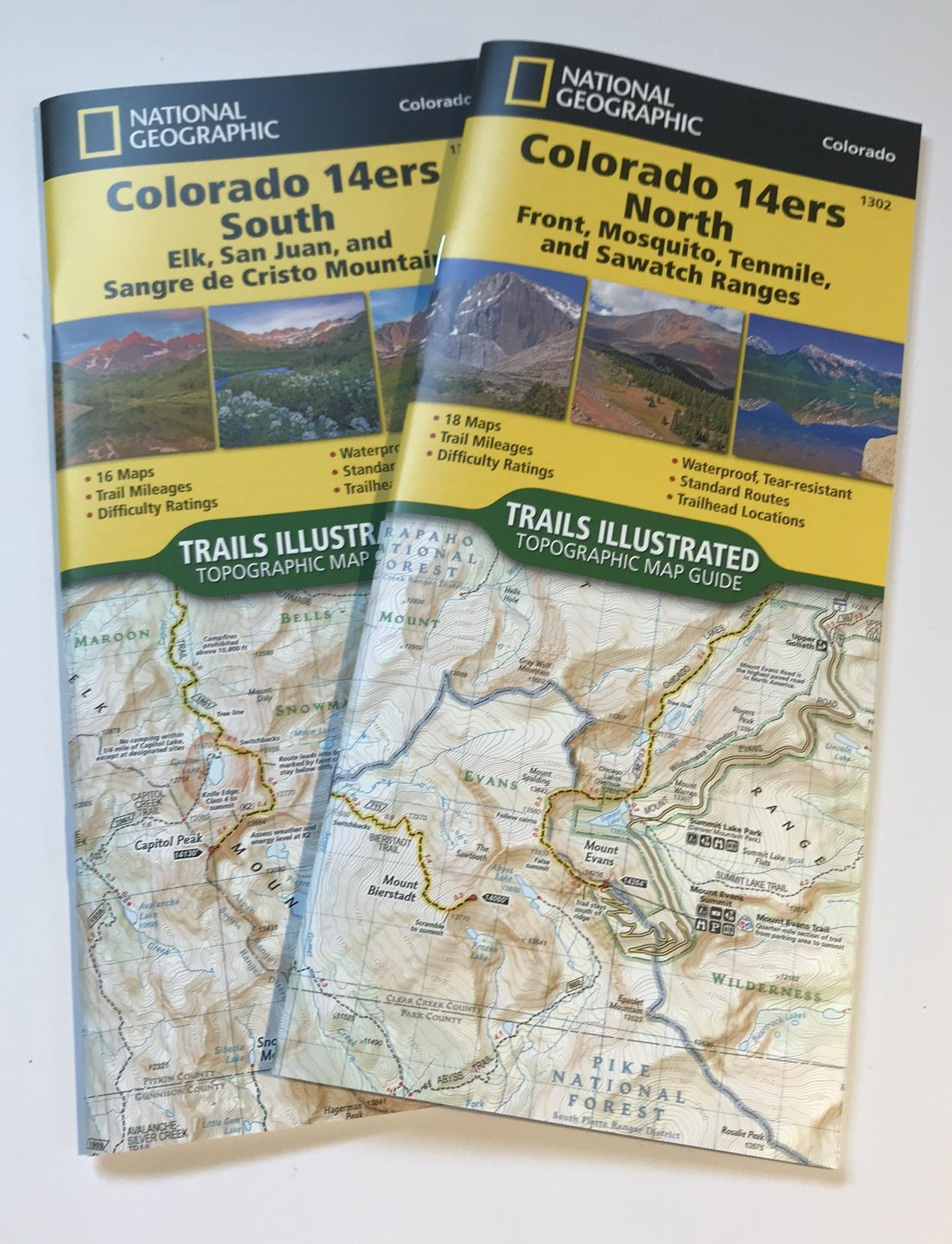 Colorado Ers Map Pack National Geographic Trails Illustrated - 14ers map us