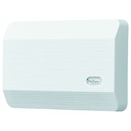 NuTone LA11WH Decorative Wired Two-Note Door Chime, White Textured ...