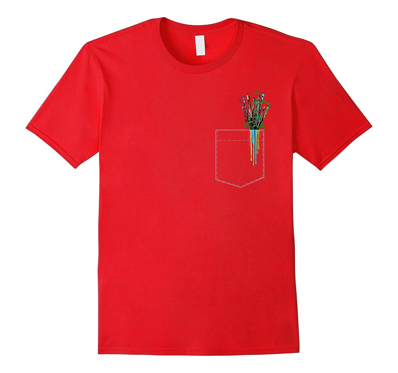 Art Painting Pocket T-Shirt-Art