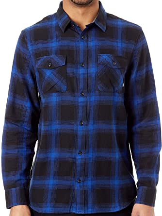 d1c150a74b Vans Black-Mazarine Blue Monterey III Long Sleeved Shirt: Vans ...