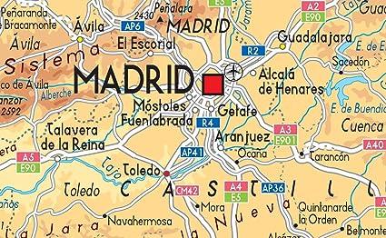 Mapa España Físico – Vinilo – A1 tamaño 59,4 x 84,1 cm: Amazon.es: Oficina y papelería