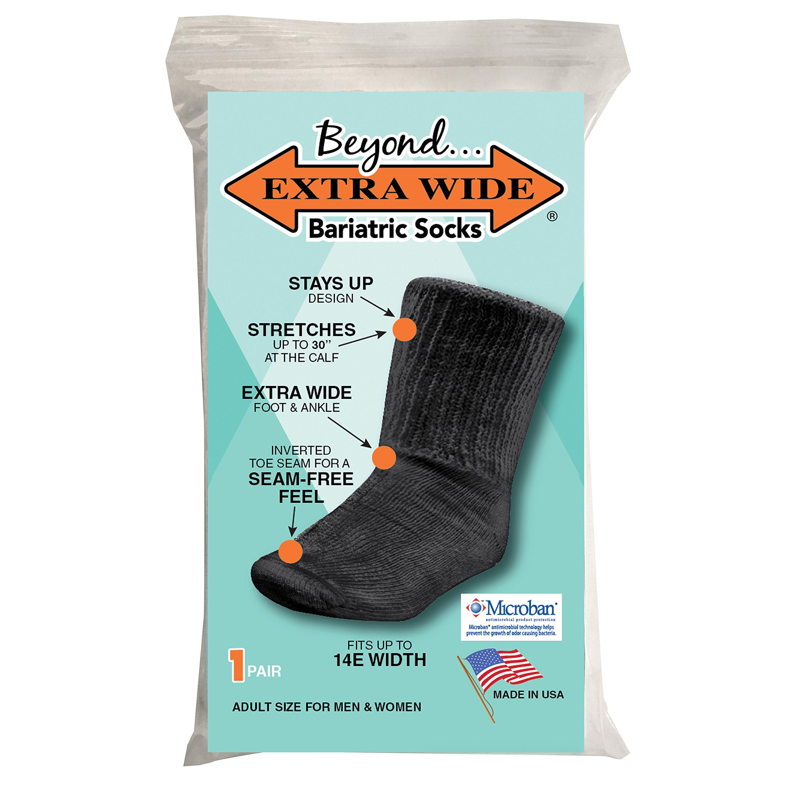 793f26642a99 Amazon.com  Beyond Extra Wide Bariatric Sock for Extreme Lymphedema ...