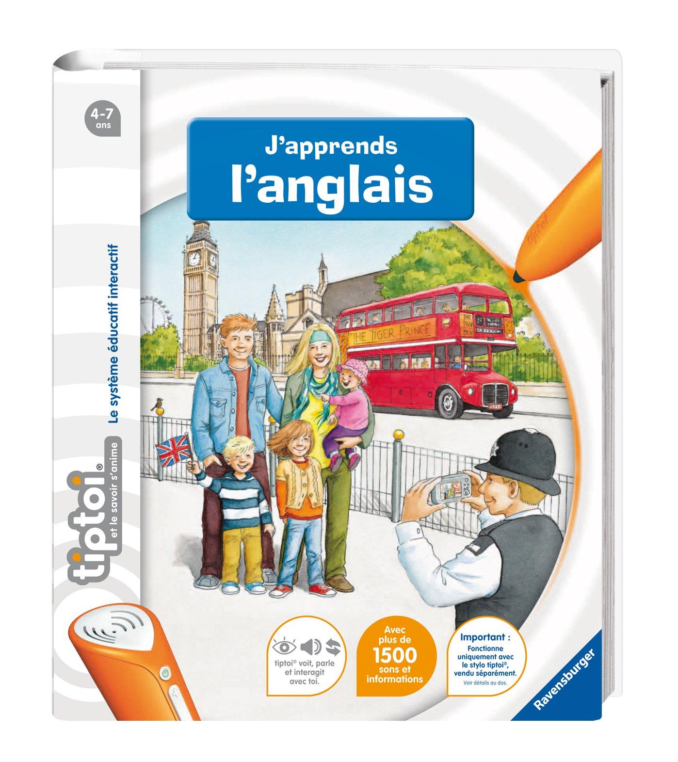 Ravensburger - 00606 - Jeu Éducatif Électronique - Tiptoi - Livre - J'apprends l'anglais product image