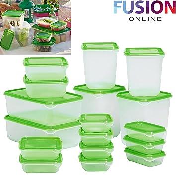 magasin en ligne b756a 1b05f Ikea Pruta Lot de 17 Boîtes Alimentaires en plastique Vert ...