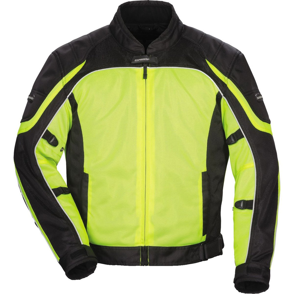 Tour Master Intake Air Series 4 Men's Textile Sports Bike Racing Motorcycle Jacket - Hi-Viz Yellow/Black / 2X-Large