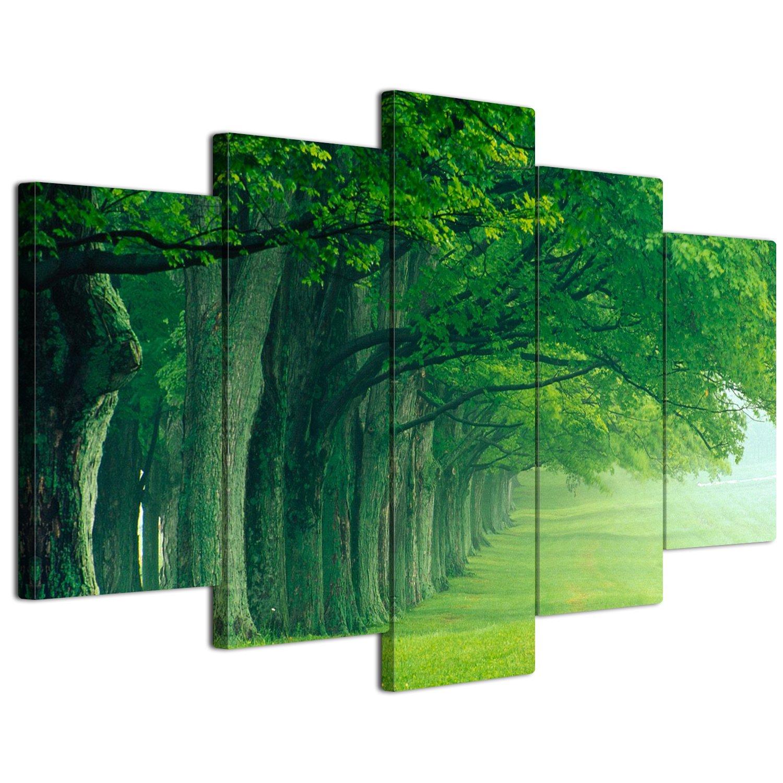 【リブラLibra】 5パネルセット アートパネル インテリアアート「林森」 キャンバス絵画 (木枠付きの完成品) (L, LP1711) B075SSSFCV Large|LP1711 LP1711 Large