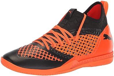 PUMA Men s Future 2.3 Netfit Soccer Shoe Black-Shocking Orange b9f405b4e