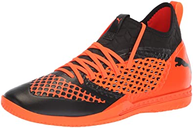 4e8ef014f207 PUMA Men s Future 2.3 Netfit Soccer Shoe Black-Shocking Orange