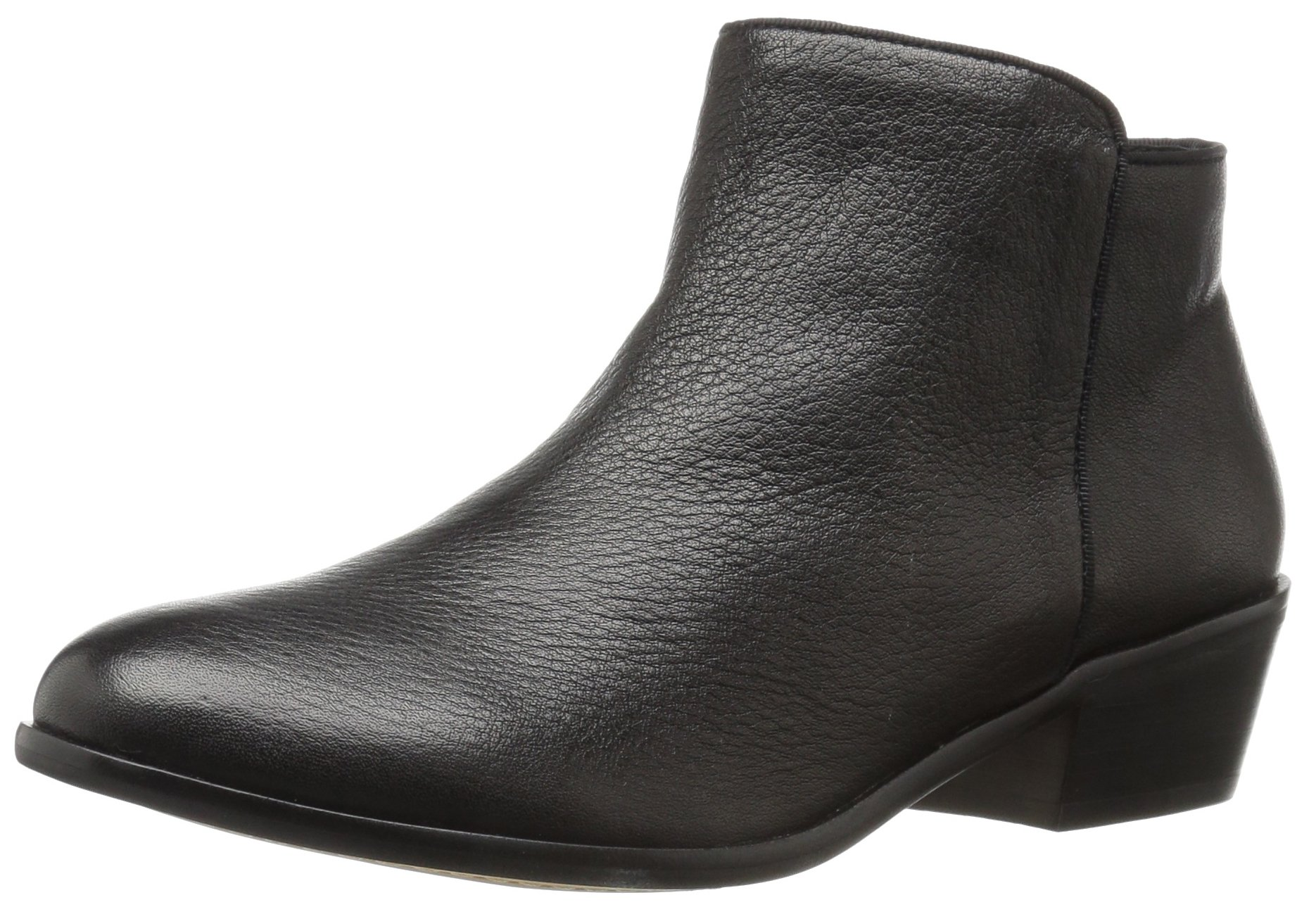 206 Collective Women's Magnolia Low Heel Ankle Bootie, Black, 6 B US