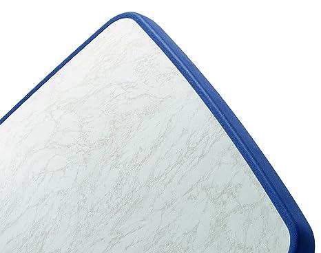 amazonde sieger gartentisch oval 90x150 cm blau stahlrohrgestell blau mecalit pl klappbar - Gartentisch Sieger Klappbar