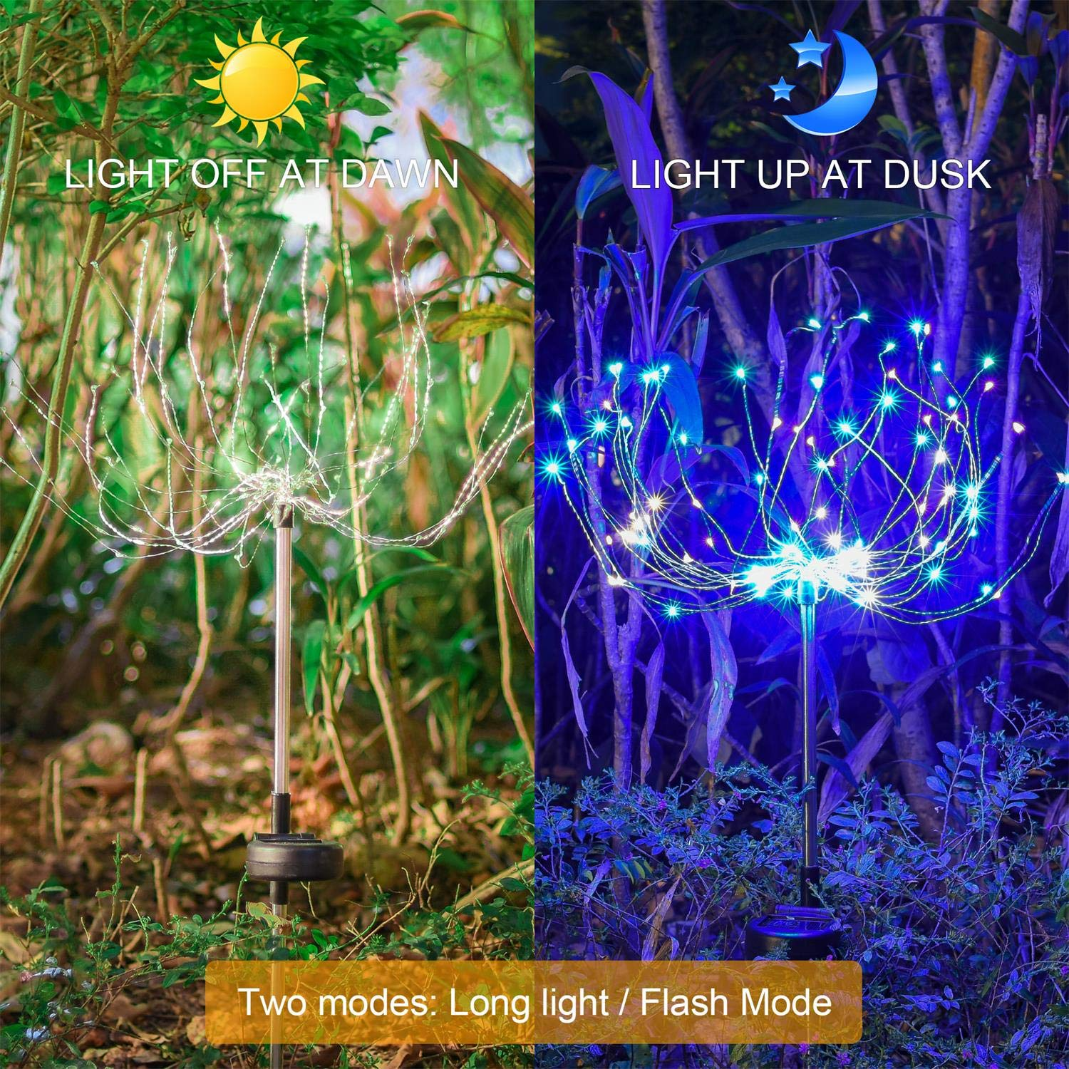 Outdoor Solar Garden Decorative Lights Mopha 105led Powered Wiring Landscape 35copper Wires Stake Light