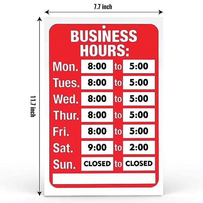 Juego de señales de apertura y horario de negocios, color ...