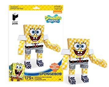 Paper Punk Spongebob Squarepants Punch N Fold Shapes Build Your Own