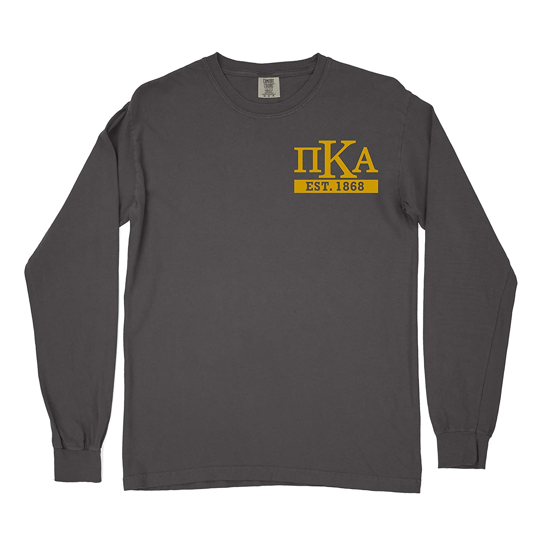 Pi Kappa Alpha Pike Fraternity Lockup Comfort Colors Long Sleeve T-Shirt