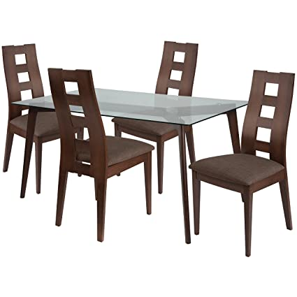 Swell Amazon Com Flash Furniture Ross 5 Piece Espresso Wood Gmtry Best Dining Table And Chair Ideas Images Gmtryco