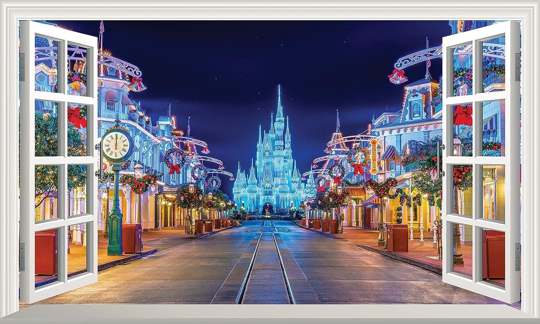Decal Wall Art Poster Window Design Disney/'s Castle Scene Wall Art Picture