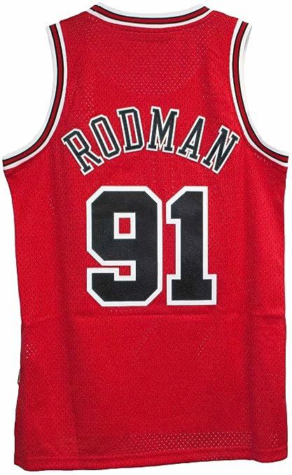 Dennis Rodman New Soulman Chicago Bulls Adult Size Red Throwback Jersey  (Medium) 25b2a799b