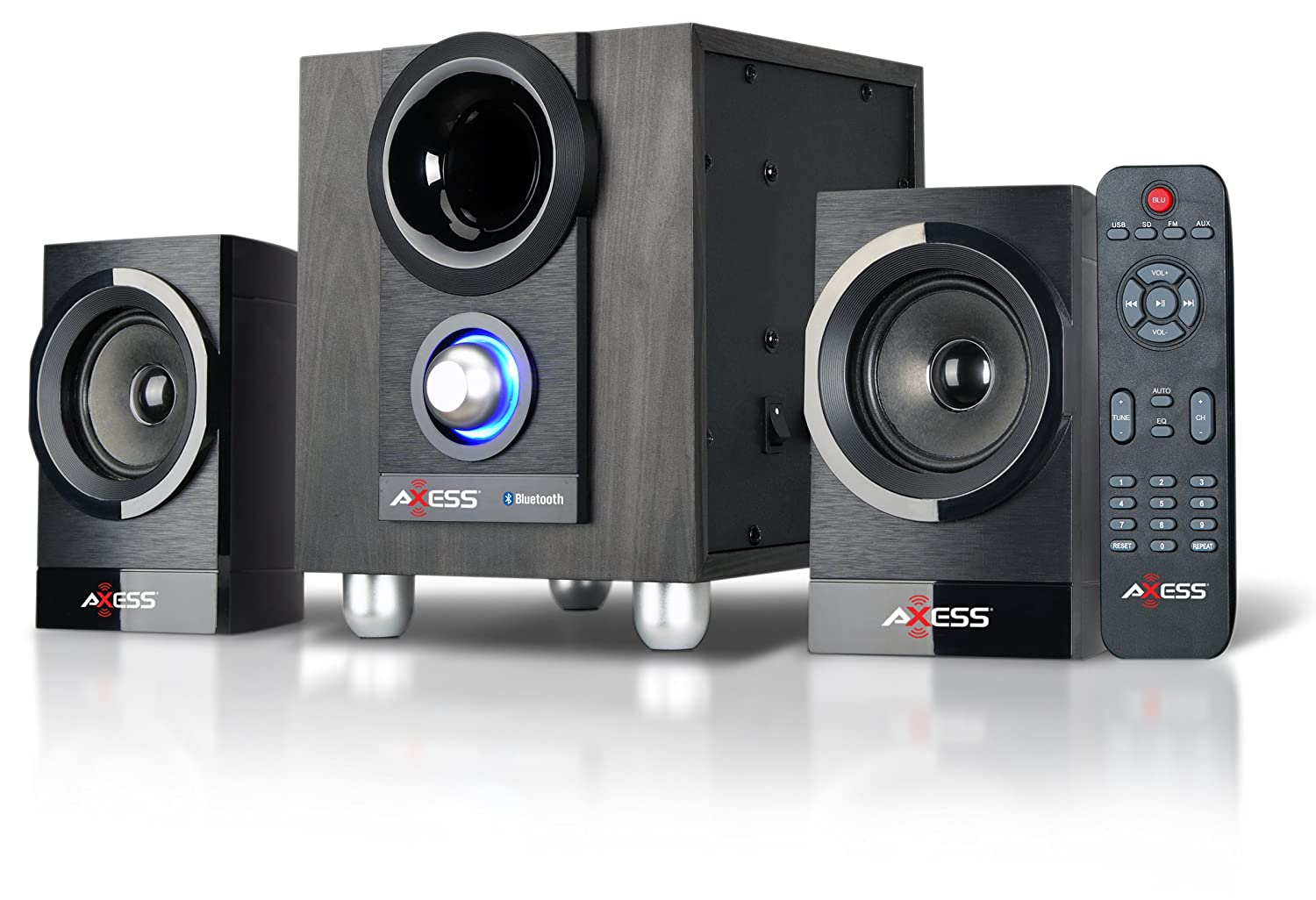 Axess MSBT3907 2.1 Mini Entertainment System with Bluetooth