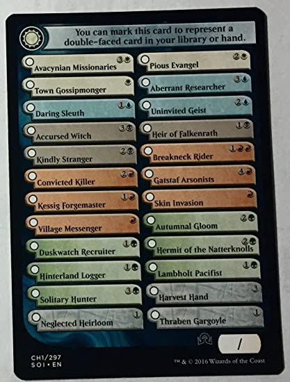 Magic: the Gathering - Shadows Over Innistrad Checklist Card (CH1)  (CH1/297) - Shadows Over Innistrad