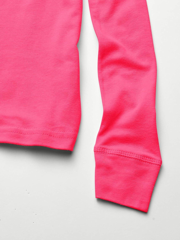 AquaGuard Girls Big Baby Rib Pajama Top-3 Pack