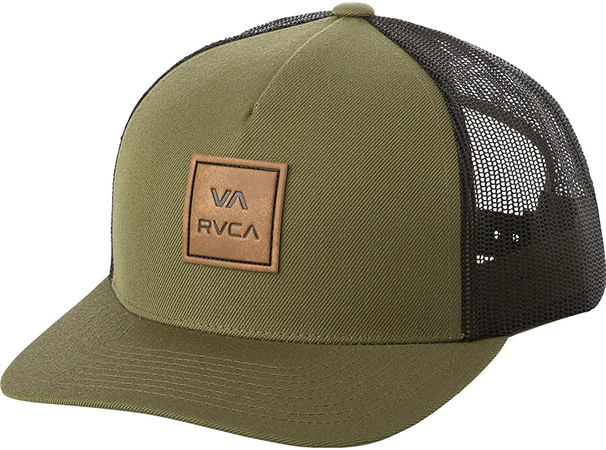 RVCA Men's Va All The Way Curved Brim Trucker Hat Black One Size MAHWPRVA
