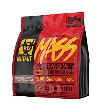 MUTANT Mass Weight Gainer Protein Powder with Whey, and Casein Protein Blend for High-
