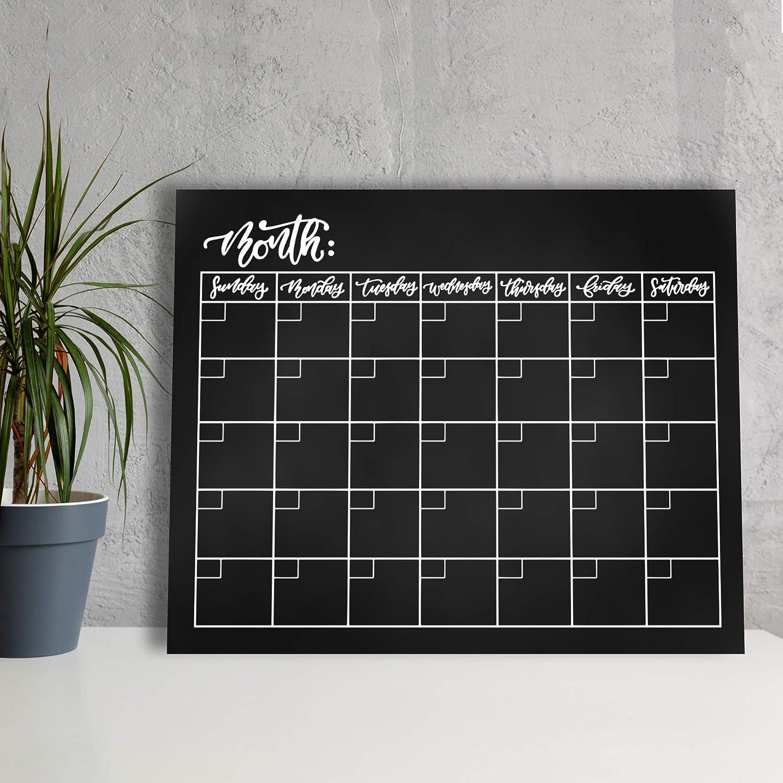 Floating Design Clean Minimalist Acrylic Wall Calendar 16x20