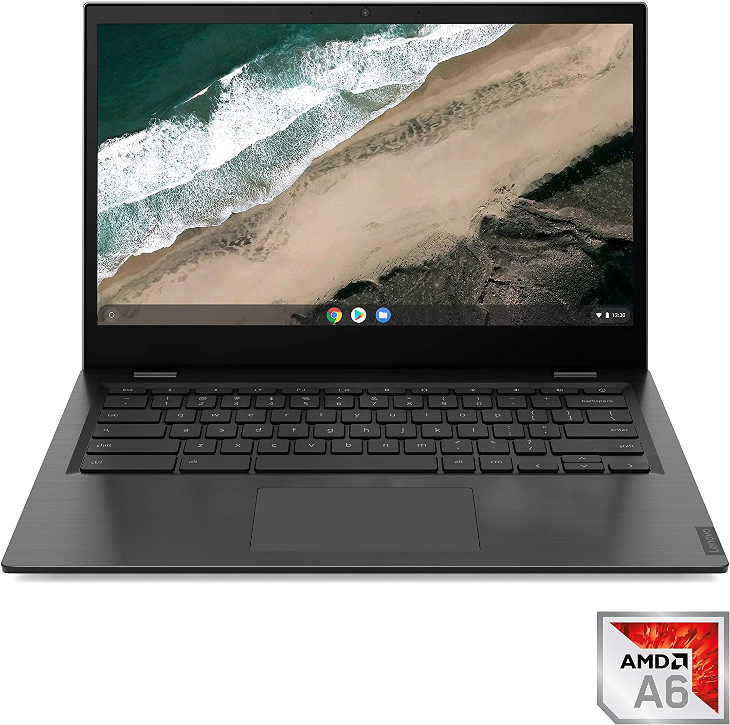 "Lenovo Chromebook S345 Laptop, 14.0"" FHD (1920 x 1080) Display, AMD A6-9220c Processor, 4GB DDR4 OnBoard RAM, 32GB SSD, AMD Radeon R5 Graphics, Chrome OS, 81WX0001US, Platinum Grey"
