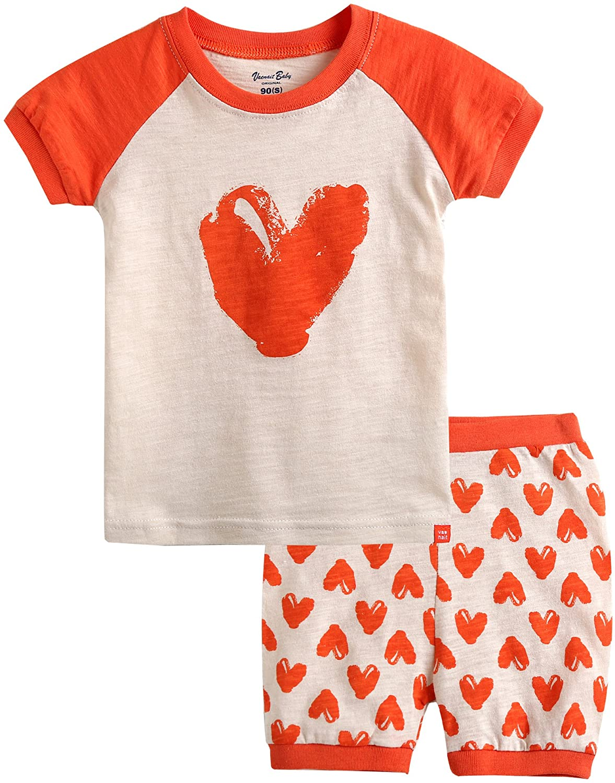 [FreeShipping] Vaenait Baby 12M-7T Kids Girls 2pcs Clothing Set Pumping Heart RSWS_107