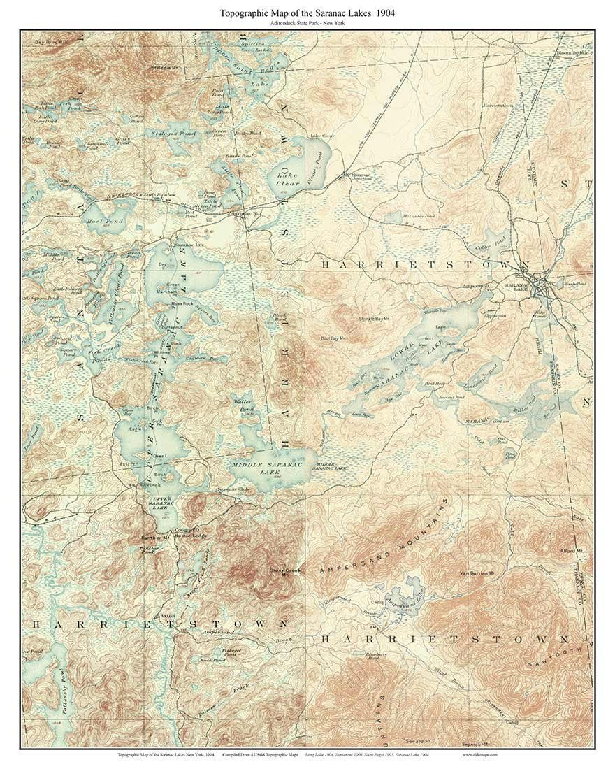 Amazon.com: Saranac Lakes 1904 USGS Old Topographic map ... on village new york map, painted post new york map, lower east side new york map, burke new york map, van etten new york map, rock stream new york map, grand central terminal new york map, rouses point new york map, moira new york map, upper jay new york map, columbus new york map, st. lawrence county new york map, lake titus new york map, verona beach new york map, texas new york map, mirror lake new york map, keene new york map, redford new york map, lake placid new york map, santa clara new york map,
