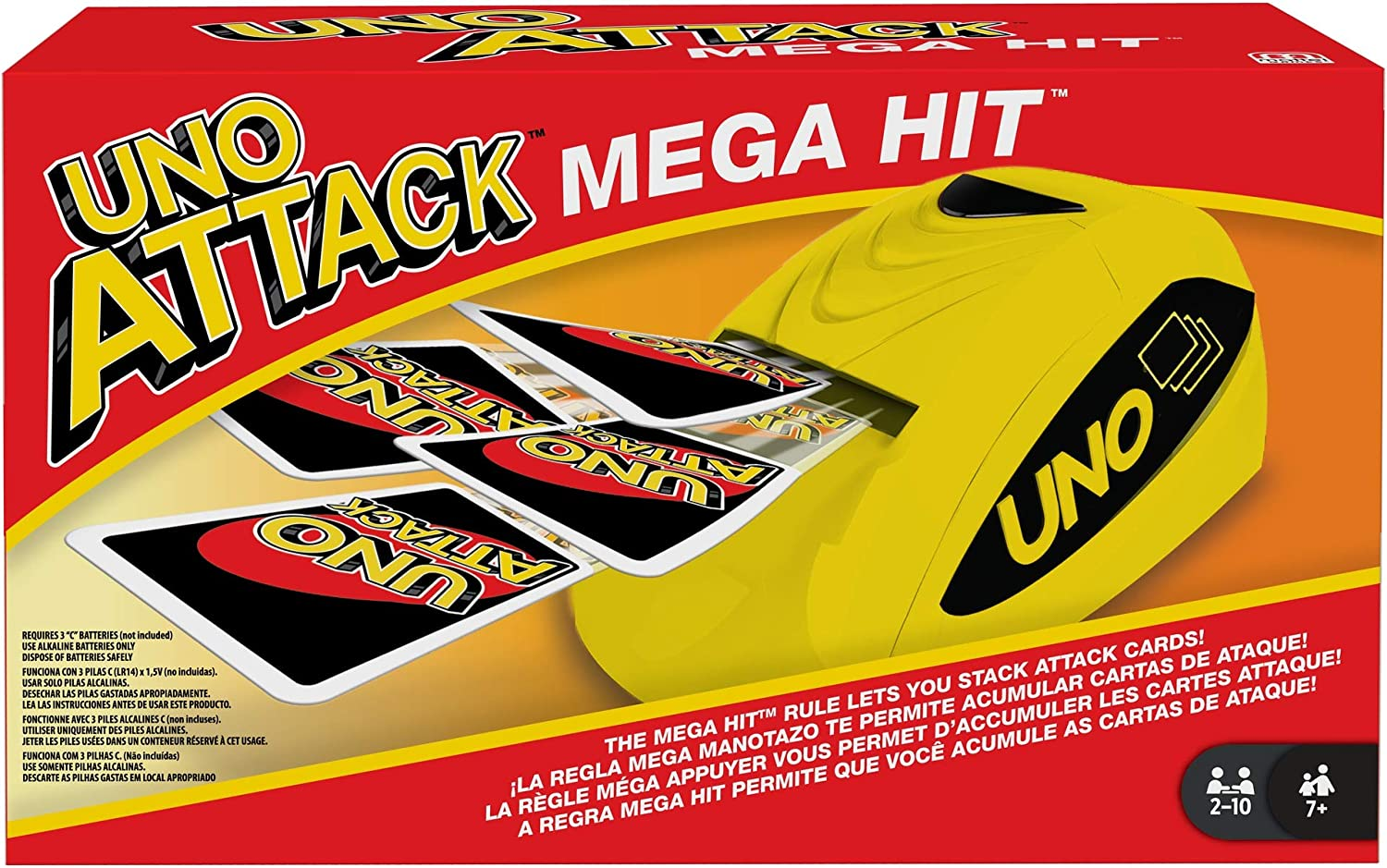 UNO: Attack Mega Hit Card Game with Card Shooter, Great for Kid, Adult or Family Game Night, 7 Years and Older [ Exclusive]: Toys & Games