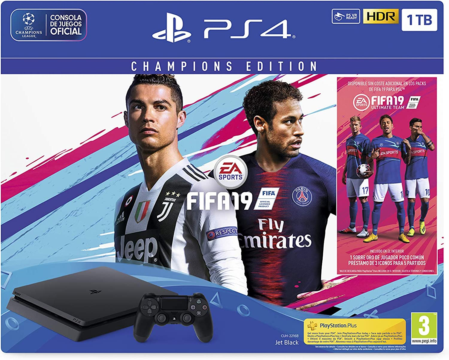 PlayStation 4 (PS4)- Consola 1 TB + Fifa 19 - Edición Deluxe: Sony ...