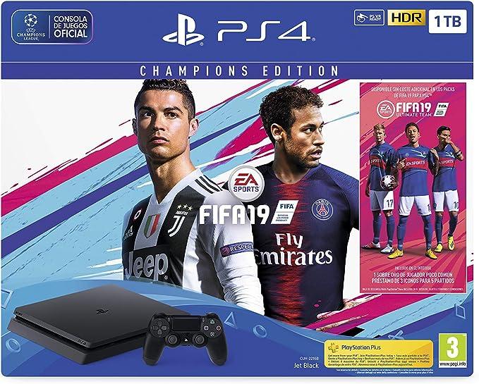 PlayStation 4 (PS4)- Consola 1 TB + Fifa 19 - Edición Deluxe: Sony ...
