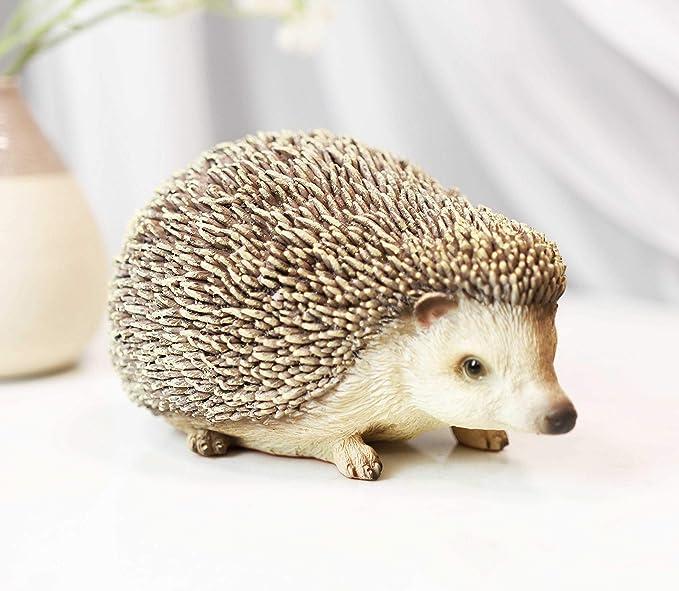 Small Hedgehog Figurine Marble Stone Animal Garden Art Souvenir Handmade Hedgehog Statuette Realistic Figurine