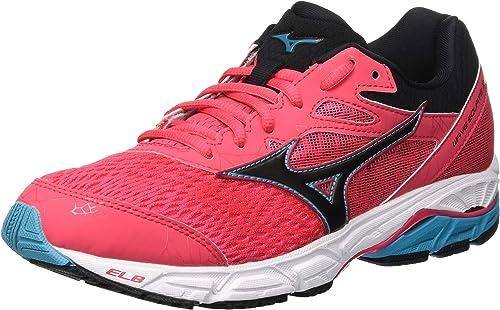 Mizuno Wave Equate 2, Zapatillas de Running para Mujer, Rosa (Teaberry/Black/Peacockblue 10), 37 EU: Amazon.es: Zapatos y complementos