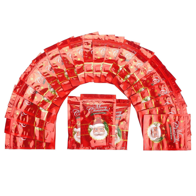 Lazada Sacchetti di Caramelle Regalo Buon Natale Sacchetti di Caramelle Sacchetto di plastica Avvolto con Adesivo sigillato 24PCS (24*16cm)