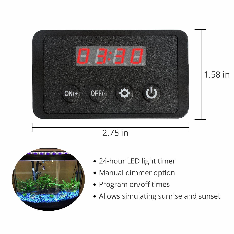 NICREW One Channel Aquarium Timer LED Digital Dimmer for Aquarium Lights N10460