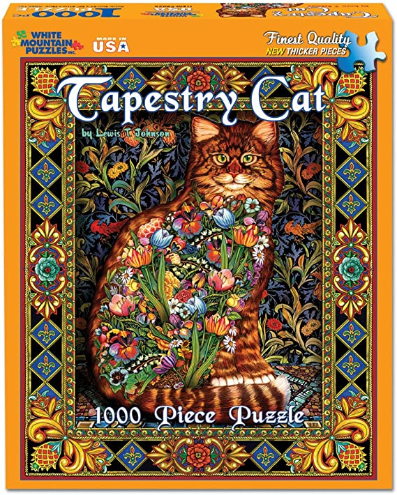 #402 2020 LEWIS JOHNSON 1000 TAPESTRY CAT WHITE MOUNTAIN PUZZLES