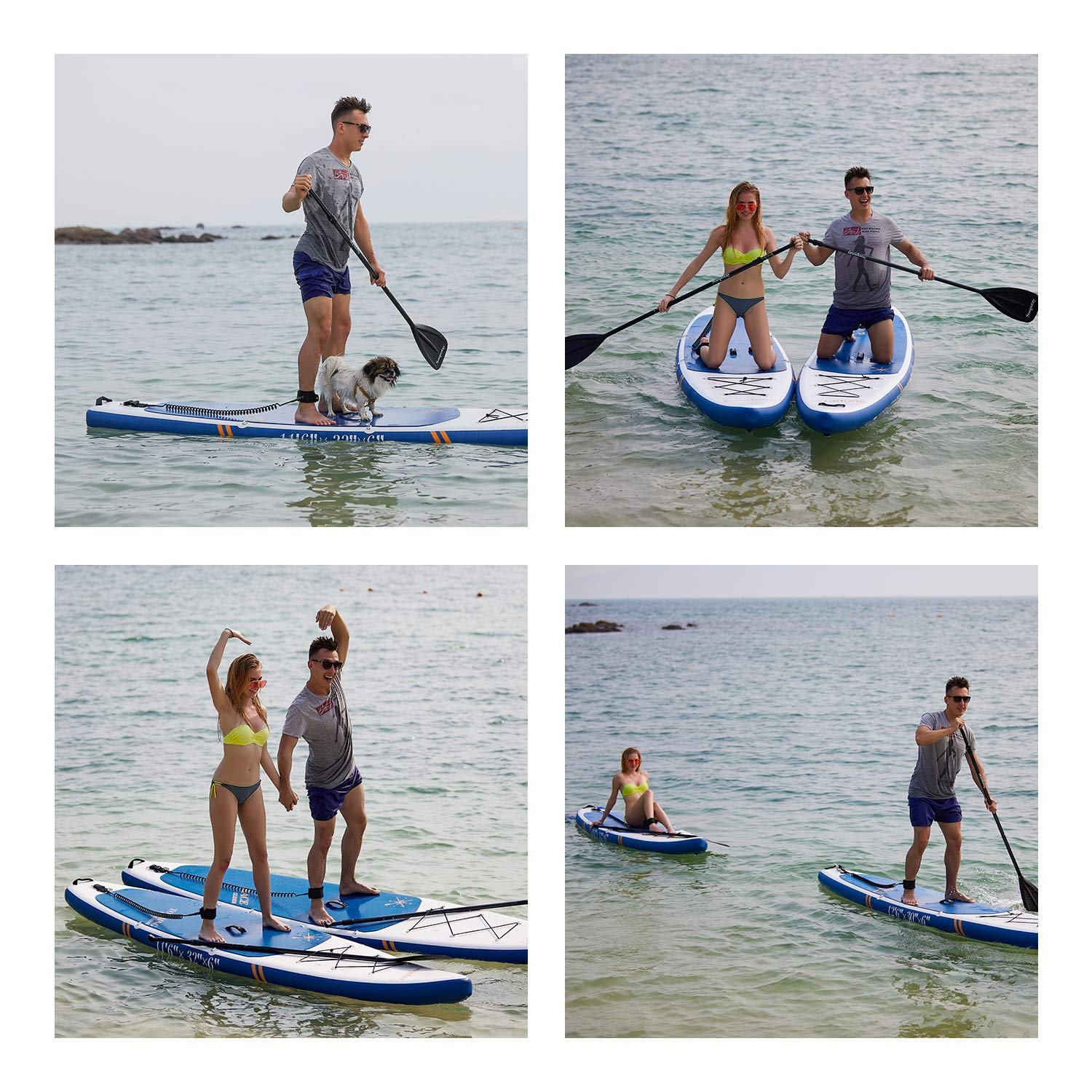 Inflatable SUP Board, Inflatable SUP Kayak, iSUP Package with All Accessories (Touring-Navy Blue-11'6'' x 32'' x 6'') by Soopotay (Image #5)