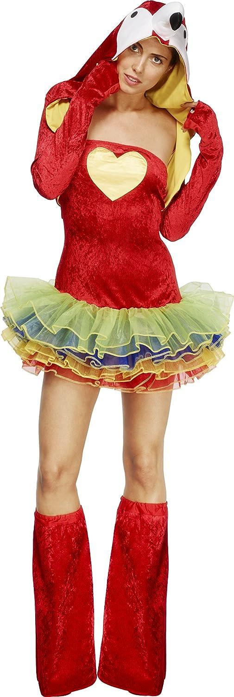 Smiffys Women's Red Fever Birds Of Paradise Parrot Tutu Dress - Us Dress 14-14 B00I8S2JT6