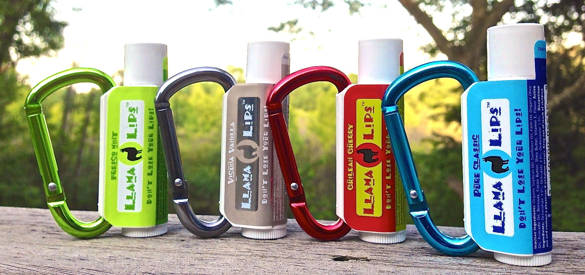Llama Lips Gift Pack Enjoy the ''Year of the Llama'' Lip Balm Gift Pack with the Patented Lip Balm Clip