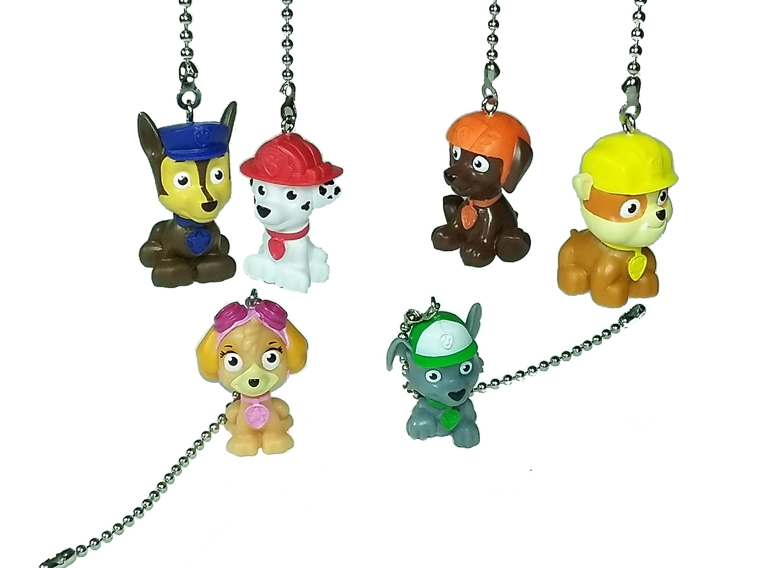 Paw Patrol Ceiling Fan Pull Chain by Wooden Androyd Studio - Kids Room Child Nursery Decor (All 6 Character Set)