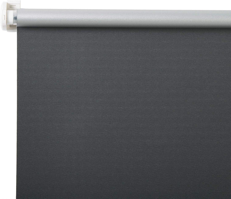 80x210cm Anthracite HOLISTAR Store Enrouleur Occultant sans percer Rideau Thermique avec rev/êtement