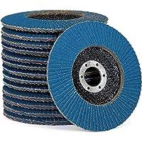 Premium lamellenschijvenset │ blauw │ 10 stuks │ Ø 125 mm │ mixpack (elk 2 x korrel 40/60 per 3 x korrel 80/120) │ Inox…