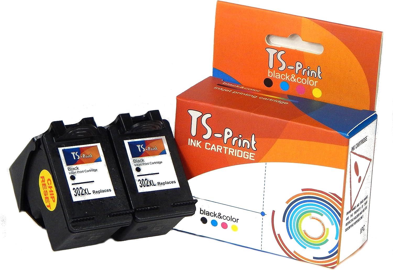 TS-Print Cartuchos de Tinta 2x 302XL Negro HP Impresora Deskjet ...