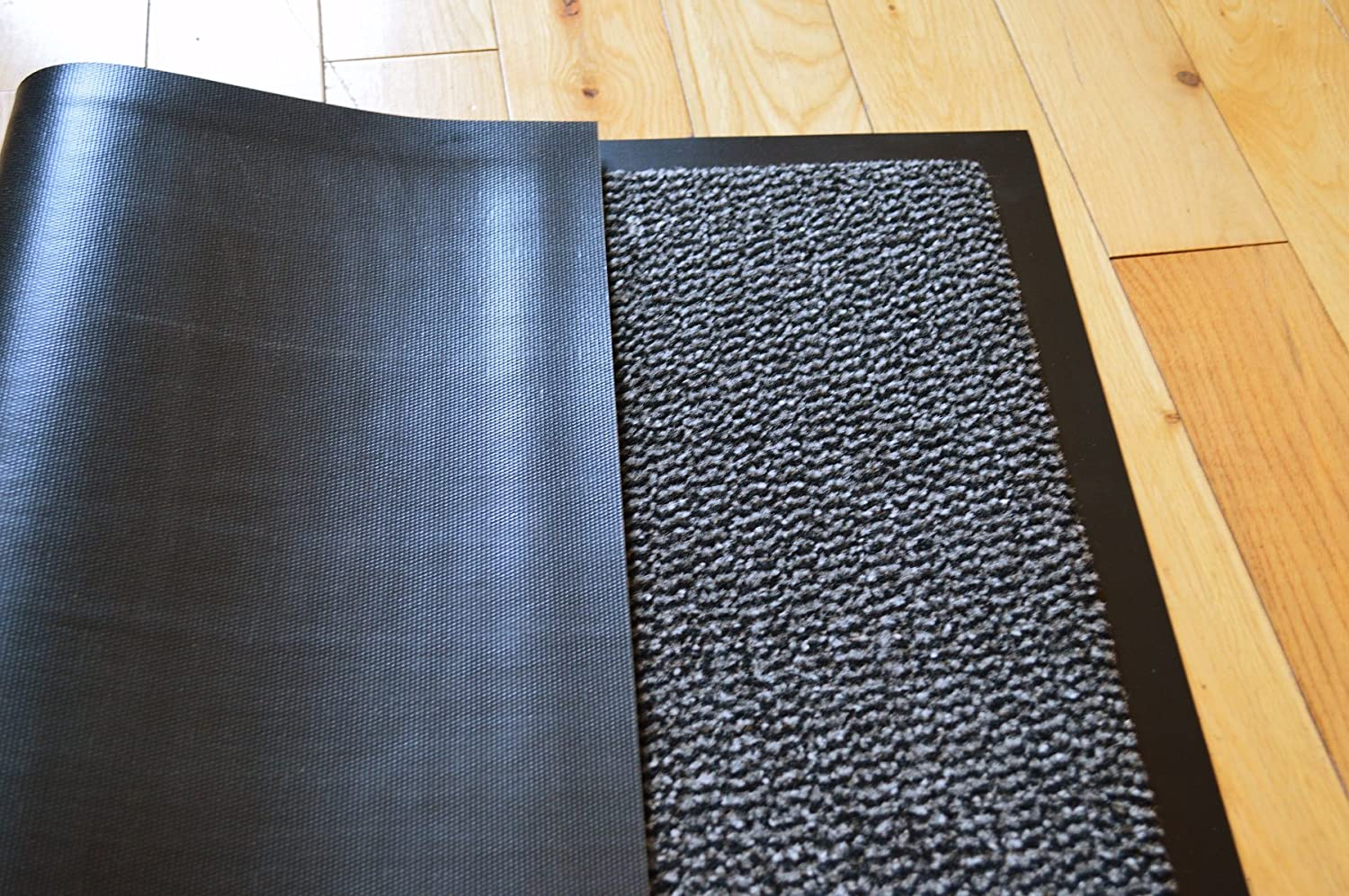 BIG EXTRA LARGE GREY AND BLACK BARRIER MAT RUBBER EDGED HEAVY DUTY ...