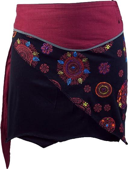 Guru-Shop, Mini Falda de Boho Chic, Falda del Abrigo, Falda de las ...