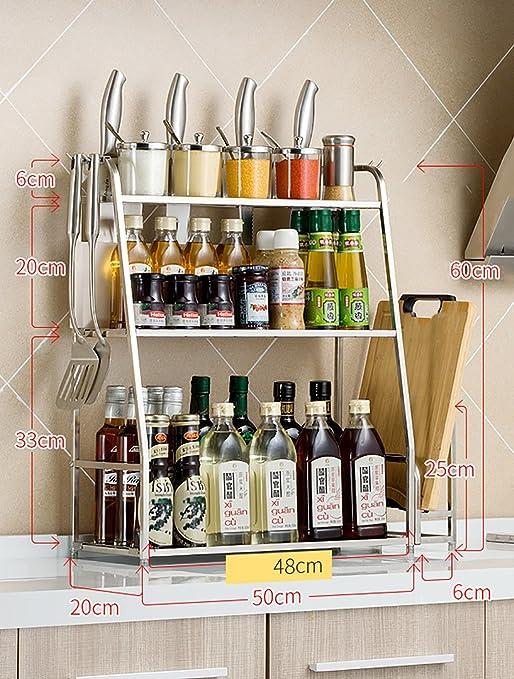 Especieros Estante de Cocina 304 Estante de Cocina de Acero ...