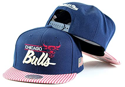 e19133617cb Amazon.com   Mitchell   Ness NBA OG USA Navy Adjustable Snapback Hat ...